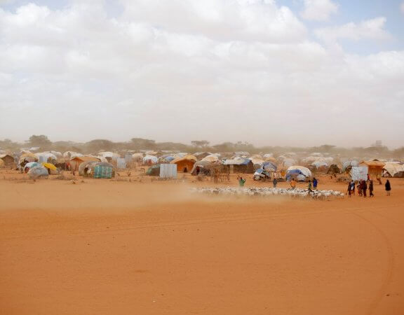 Built in 1992 for 90,000 Somali refugees, the Dadaab camps are now home to an estimated half-a-million people. Photograph: Jerome Delay/AP