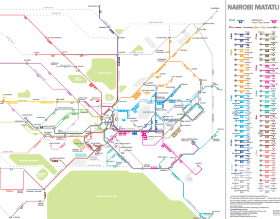 Map of matatu network, from DigitalMatatus.com