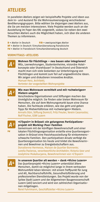 7. Forum der Schweizer Wohnbaugenossenschaften - 22. September 2017 ...